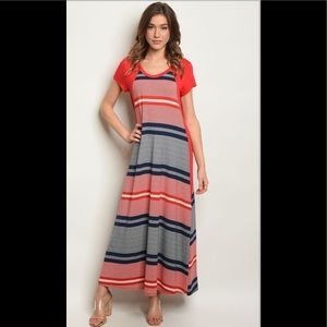2 for $40❤️striped maxi dress